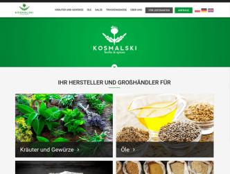 Bild Unternehmenswebseite für Kosmalski Herbs & Spices